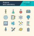 science and laboratory icons filled outline vector image vector image