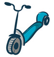 scooter hand drawn design on white background vector image