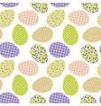seamless pattern with white easter eggs and polka vector image vector image