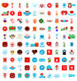 set of colorful gift icons vector image