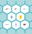 set of gaming icons flat style symbols with body vector image