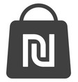 shekel shopping bag flat icon symbol vector image