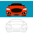 sports cars flat style front vector image vector image