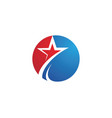 star logo template vector image vector image