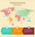 transportation infographic in style vector image