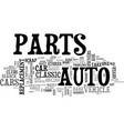 when your car s parts are hard to find text word vector image vector image
