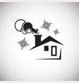 winter house on white background vector image