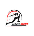 womens athletic running logo vector image