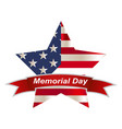 american flag honoring all who served banner for vector image