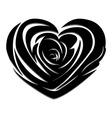 Flower love heart valentine day tattoo vector image