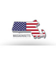 a county state with us united states flag vector image vector image