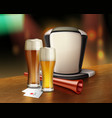 acessories of fan with beer vector image vector image