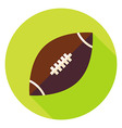 American Rugby Ball Circle Icon vector image vector image