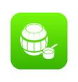 barrel honey icon green vector image vector image