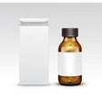 Blank Medicine Medical Glass Bottle vector image vector image