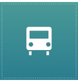 Bus icon Flat design style vector image vector image