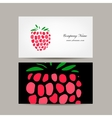 Business card template raspberry design vector image vector image