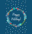 card happy holidays vector image vector image