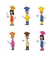 chef cartoon set vector image