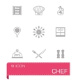 Chef icon set vector image
