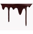 Chocolate flow on white background vector image vector image