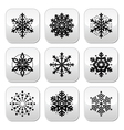Christmas or winter Snowflakes buttons set vector image vector image