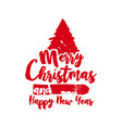 christmas text quote lettering tree vector image vector image