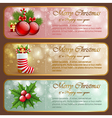 Christmas vintage horizontal banners vector image vector image