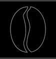 Coffee bean the white path icon
