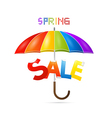 Colorful Spring Sale Background with Umbrella vector image vector image