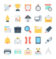 Education Colored Icons 6 vector image vector image