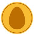 egg gold coin vector image