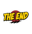 end word text with thunder greeting theme vector image vector image
