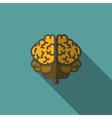 Flat Human Brain with Long Shadow vector image vector image