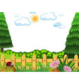 flat nature template background vector image