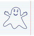 ghost sign navy line icon on notebook vector image vector image