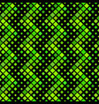 green diagonal square pattern background vector image vector image