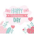 happy valentines day envelope message hearts vector image vector image