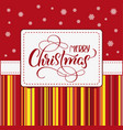 holiday frame with merry christmas on white vector image