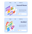 house safety and home insurance house security vector image vector image