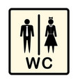 icon denoting man and woman symbol vector image