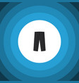 isolated trousers flat icon pants element vector image