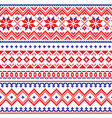 lapland seamless winter pattern sami vector image vector image