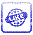 like stamp seal framed textured icon vector image vector image