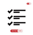 list icon vector image vector image