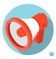 loudspeaker megaphone icon vector image vector image