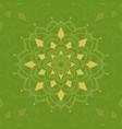 mandala pattern on green background
