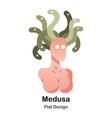 medusa flat icon vector image