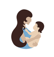Mother and baby symbol vector image vector image
