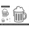 Mug of beer line icon vector image vector image